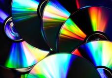Fondo dei dischi del CD Immagine Stock