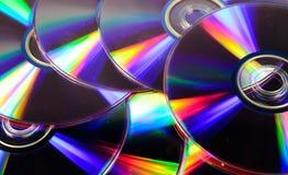 Fondo dei dischi del CD Fotografia Stock Libera da Diritti