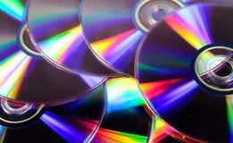 Fondo dei dischi del CD Fotografia Stock