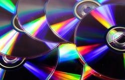 Fondo dei dischi del CD Fotografie Stock Libere da Diritti