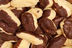 Fondo dei eclairs di cioccolato del primo piano Immagine Stock Libera da Diritti