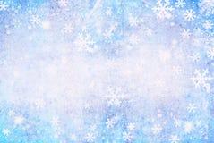 Fondo dei fiocchi di neve di Natale Fotografia Stock