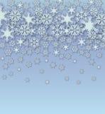 Fondo dei fiocchi di neve di vettore Immagini Stock