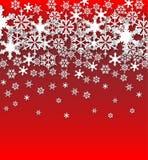 Fondo dei fiocchi di neve di vettore Fotografia Stock Libera da Diritti