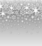 Fondo dei fiocchi di neve di vettore immagine stock libera da diritti