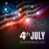 Fondo dei fuochi d'artificio per il quarto luglio Fotografia Stock