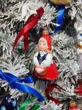 Fondo dei giocattoli di Natale Fotografie Stock