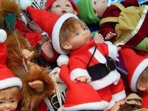 Fondo dei giocattoli di Natale Fotografia Stock Libera da Diritti