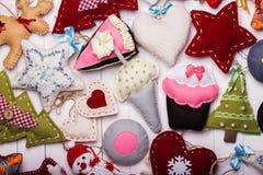 Fondo dei giocattoli di Natale Fotografia Stock