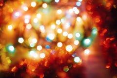 Fondo dei giocattoli di Natale Estratto con bok variopinto fotografia stock