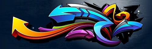Fondo dei graffiti Immagine Stock
