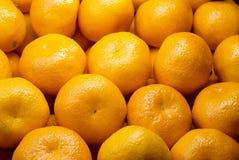 Fondo dei mandarini freschi Fotografia Stock