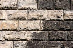 Fondo dei mattoni in bianco e nero Fotografia Stock Libera da Diritti