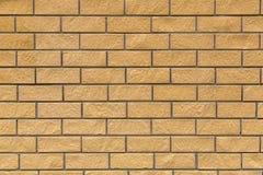Fondo dei mattoni gialli Fotografie Stock Libere da Diritti