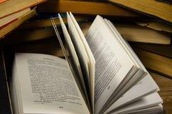 Fondo dei molti libri Fotografia Stock Libera da Diritti