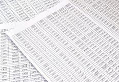 Fondo dei numeri sulla carta degli strati Fotografia Stock Libera da Diritti