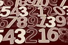 Fondo dei numeri zero - nove Priorità bassa con i numeri Struttura di numeri Fotografia Stock