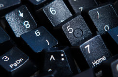 Fondo dei numeri zero - nove Priorità bassa con i numeri Struttura di numeri Nastro di misurazione cinghia del tester Fotografie Stock Libere da Diritti