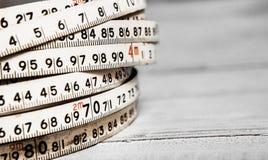 Fondo dei numeri zero - nove Priorità bassa con i numeri Struttura di numeri Nastro di misurazione cinghia del tester Immagini Stock Libere da Diritti
