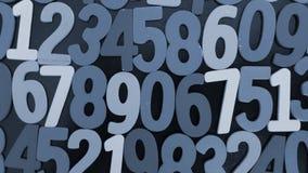 Fondo dei numeri zero - nove Priorità bassa con i numeri Struttura di numeri Immagini Stock