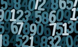 Fondo dei numeri zero - nove Priorità bassa con i numeri Struttura di numeri Immagini Stock Libere da Diritti