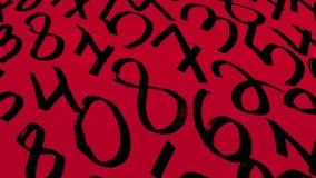 Fondo dei numeri zero - nove Priorità bassa con i numeri Struttura di numeri Fotografia Stock Libera da Diritti