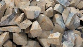 Fondo dei pezzi delle rocce illustrazione 3D Fotografia Stock Libera da Diritti