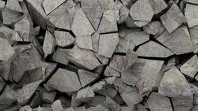 Fondo dei pezzi delle rocce illustrazione 3D Fotografie Stock Libere da Diritti