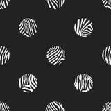 Fondo dei pois del modello della zebra Immagini Stock Libere da Diritti