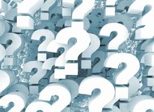 Fondo dei punti interrogativi Immagine Stock Libera da Diritti