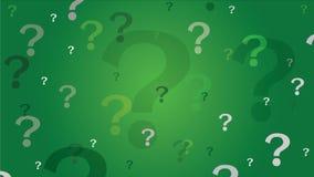 Fondo dei punti interrogativi - verde Fotografia Stock
