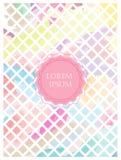 Fondo dei quadrati colorati pastello Immagini Stock