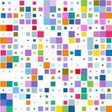 Fondo dei quadrati multicolori su bianco illustrazione vettoriale