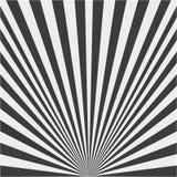 Fondo dei raggi in bianco e nero illustrazione di stock