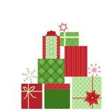 Fondo dei regali di Natale Fotografia Stock Libera da Diritti