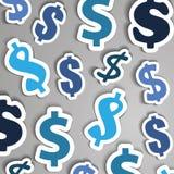 Fondo dei simboli di dollaro Immagini Stock Libere da Diritti