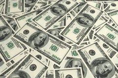 Fondo dei soldi dei dollari di U.S.A. Fotografie Stock Libere da Diritti