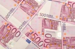 Fondo dei soldi dell'euro 500. Fotografie Stock