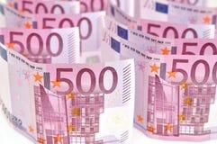 Fondo dei soldi dell'euro 500. Immagini Stock
