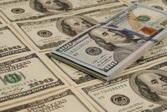 Fondo dei soldi della banconota del dollaro Fotografia Stock