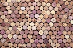 Fondo dei sugheri di legno del vino Fotografie Stock Libere da Diritti