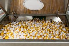 Fondo dei tappi di bottiglia di plastica Immagine Stock