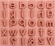 Fondo dei timbri di gomma dell'inglese alfabetico Fotografie Stock