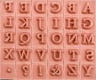 Fondo dei timbri di gomma dell'inglese alfabetico Immagini Stock Libere da Diritti