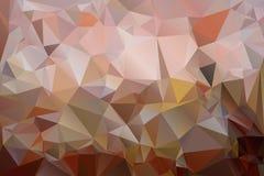 Fondo dei triangoli in tonalità di colore marrone Immagini Stock Libere da Diritti