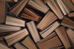 Fondo dei vecchi libri con lo spazio della copia Fotografie Stock