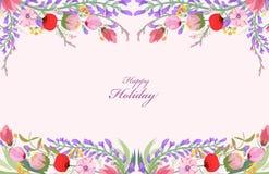 Fondo dei wildflowers dell'acquerello illustrazione vettoriale