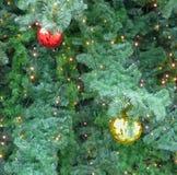 Fondo del árbol del Año Nuevo Fotos de archivo