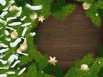 Fondo del árbol de abeto de la Navidad EPS 10 Imágenes de archivo libres de regalías