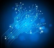 Fondo del árbol de la tarjeta de circuitos Imagen de archivo